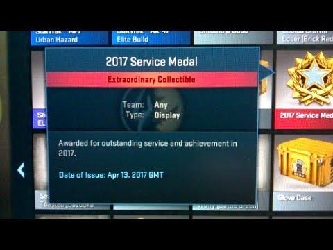 #02 CS:GO Light Blue Service Medal 2017 [Level 2] For 66 Days