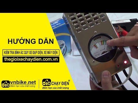 Hướng dẫn kiểm tra bình ắc quy xe đạp điện, xe máy điện