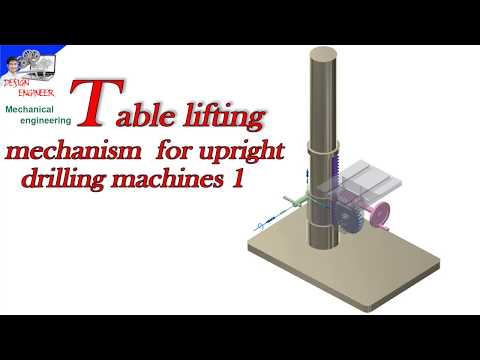 Table lifting mechanism for upright drilling machines 1, how to work?