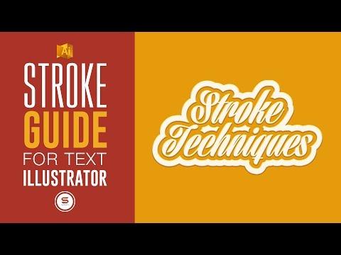ILLUSTRATOR STROKE TECHNIQUE - ILLUSTRATOR DOUBLE STROKE TIP - ⓣⓤⓣⓞⓡⓘⓐⓛ Illustrator Text Effects