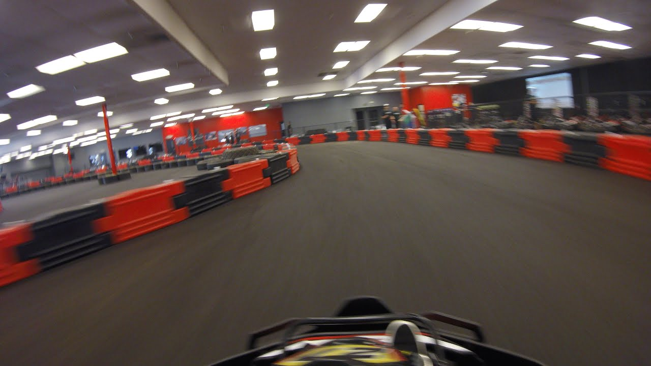 Solo MB2 Indoor Kart Racing - Modesto - Gopro - Opening day - YouTube