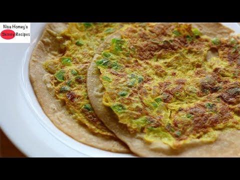 Breakfast In 5 Minutes - Healthy & Quick Egg Paratha - अंडा पराठा - Tiffin Recipes   Skinny Recipes