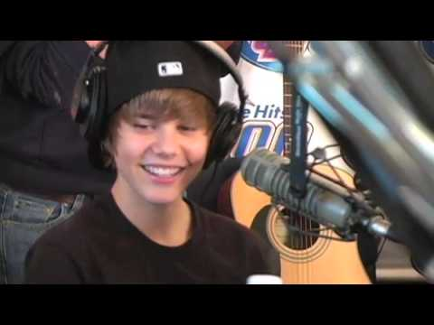 Usher and Justin Bieber in studio with The Bert Show on Q100 pt.2