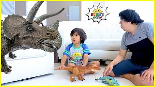 Download lagu Ryan and the story about Dinosaurs in our house!!!