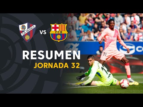 Resumen de SD Huesca vs FC Barcelona (0-0)