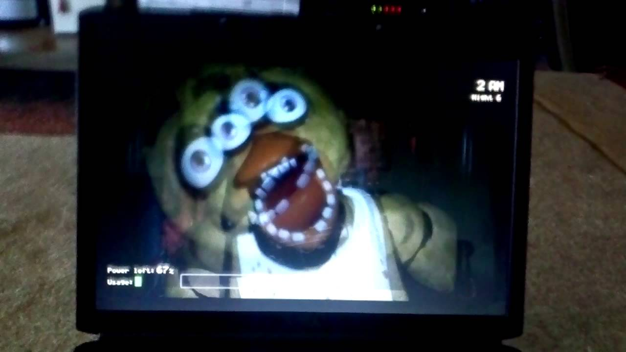 Chica jumpscare glitch in fnaf youtube