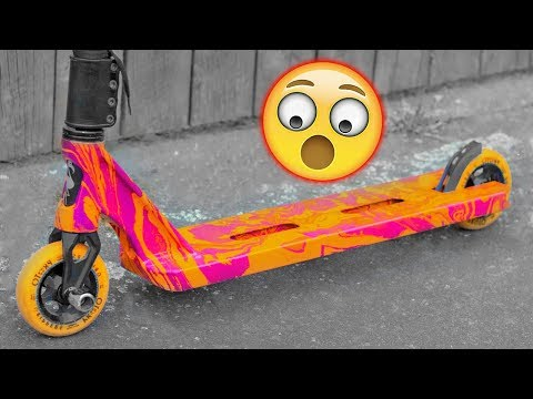 HYDRO DIP CUSTOM PRO SCOOTER INSANE COLORS