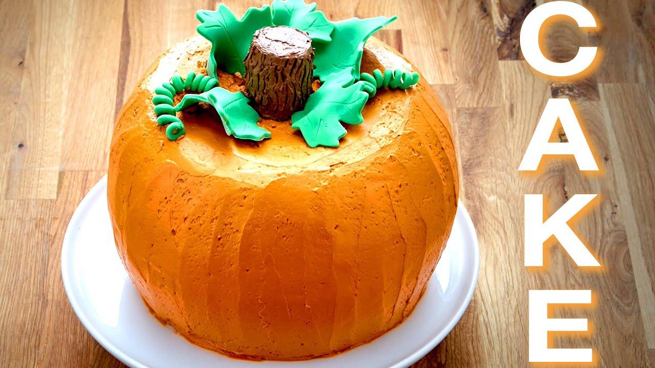 halloween pumpkin bundt cake | oh yum with anna olson - youtube