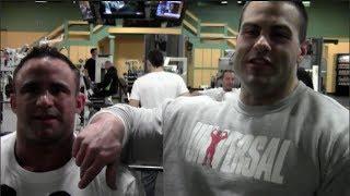 Evan Centopani and Jose Raymond Train Chest