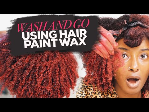I Tried A Wash N Go Using ONLY Hair Paint Wax!