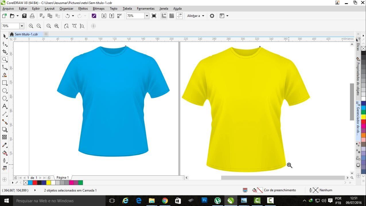 Mudando A Cor De Uma Camisa No Coreldraw E Deixando Editável