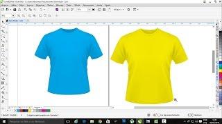 Mudando a cor de uma camisa no CorelDraw e deixando editável.