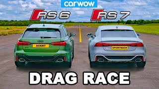 Audi RS7 vs RS6 - DRAG RACE