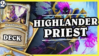 HIGHLANDER PRIEST 2/2 - Hearthstone Deck Std (KotFT)