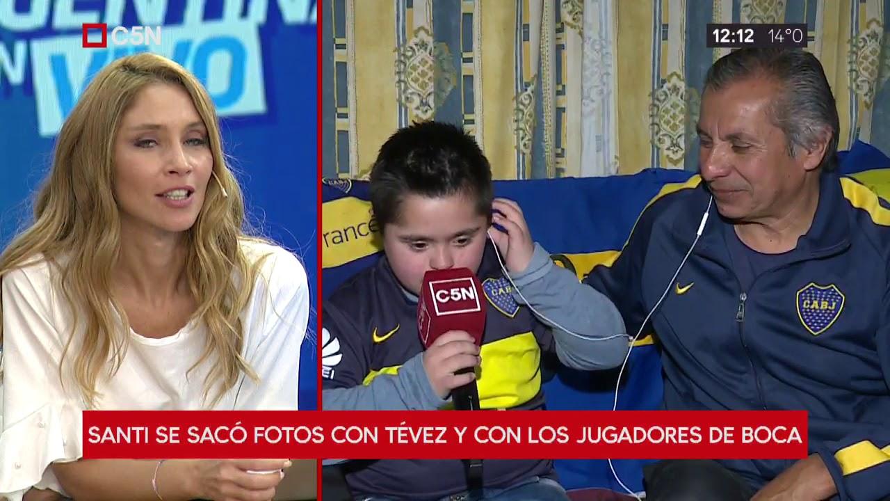 Sueño cumplido: Santi conoció a Tevez en La Bombonera