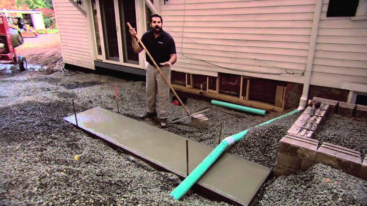 Concrete Slab For Grill Island Youtube