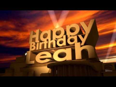 Happy Birthday Leah