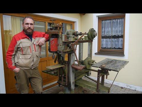 Felder из дерева! Ещё одна находка в заброшеном Сарае. old DIY wood working machine