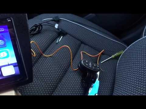 2 DIN магнитола из Китая на Гранту+переходная рамка+пульт+камера.Обзор.
