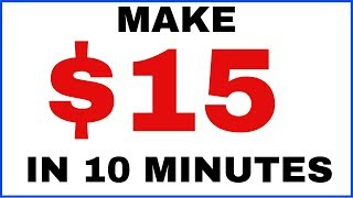 Make $15 Every 10 Minutes (Right Now Online)