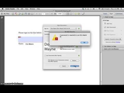 How to sign a pdf document