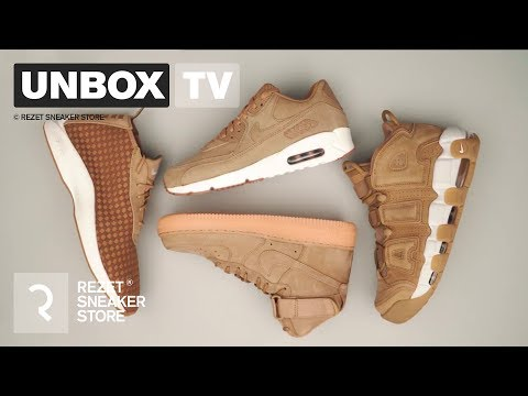 hot sale online 02f7f 6a510 Unboxing - Nike Flax Pack - AIr Force 1, Air Max 90, Uptempo and Air Woven