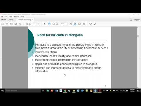 AeHIN Hour - mHealth for Visiting Home Service in Mongolia