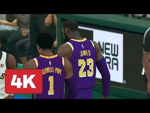 nba-2k19:-bucks-vs.-lakers-gameplay-(full-quarter-of-xbox-one-x-in-4k)