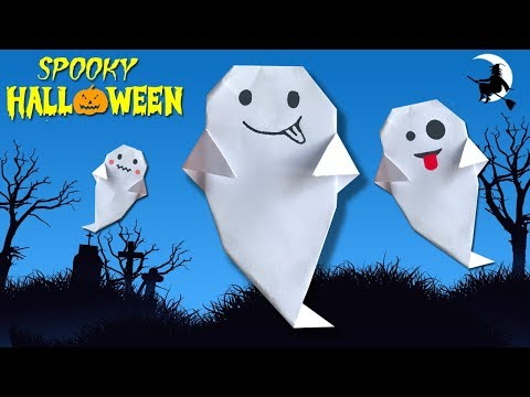 Make Paper Ghost for Halloween (2018) 👻👻 Easy DIY Paper Crafts [4K]