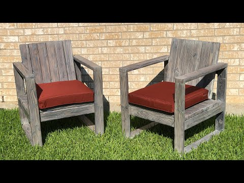 DIY Outdoor Chairs w/ stained Shou Sugi Ban Finish