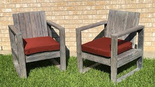 How to Build Outdoor Chairs w/ stained Shou Sugi Ban Finish