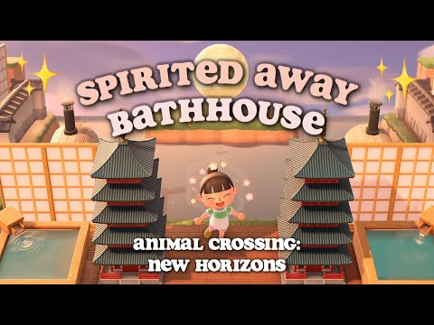 My Spirited Away Bathhouse In Animal Crossing New Horizons Youtube