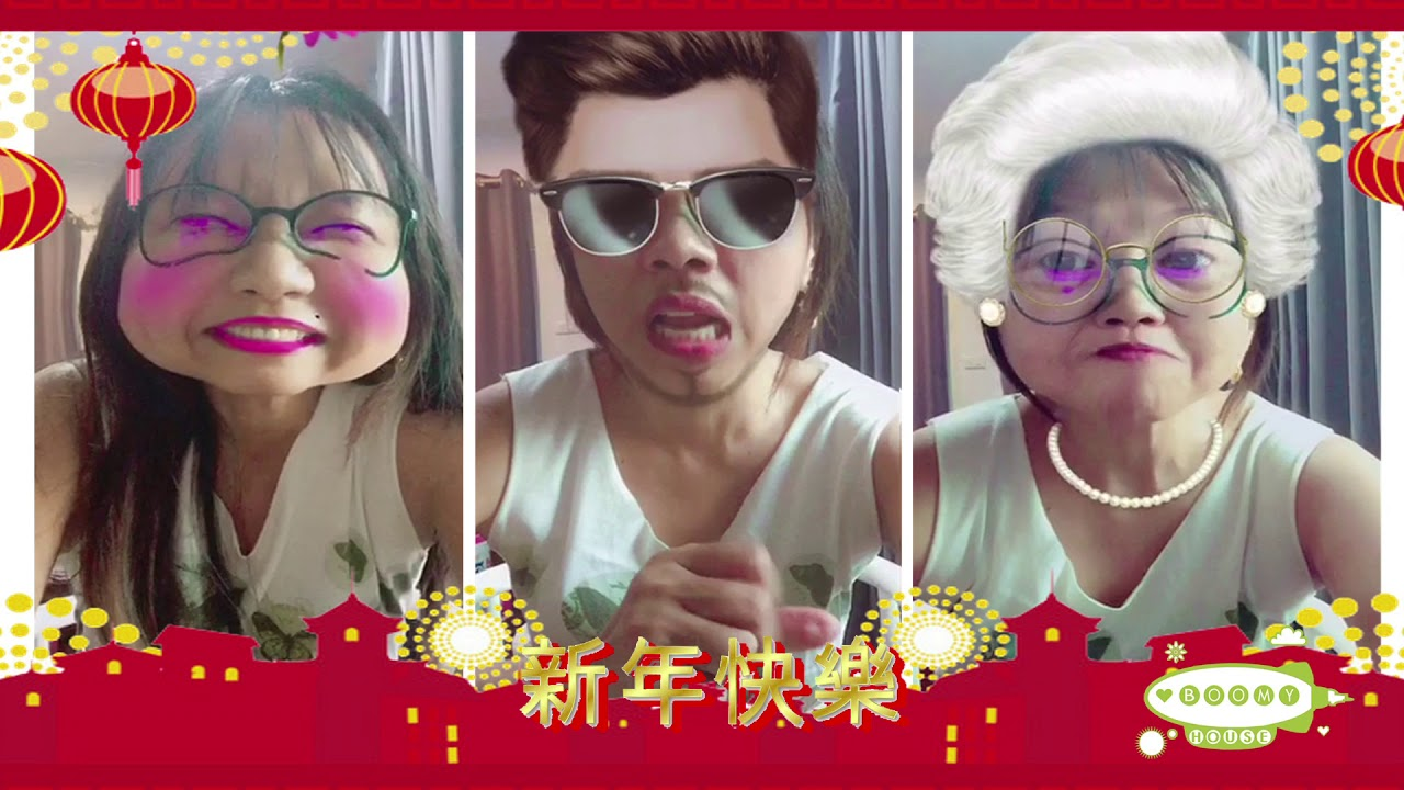 3 Character Voices Of Mine Chinese New Years Greeting In Thai