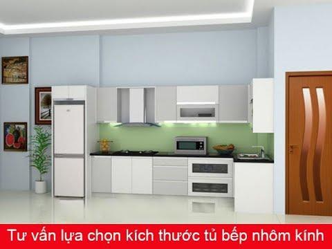 Tư vấn lựa chọn kích thước tủ bếp nhôm kính
