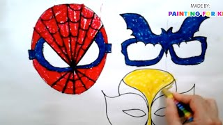 How to draw halloween | How to draw a mask for kids | How to make a mask for kids | Art for kids