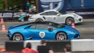 Lamborghini Huracan (stock) vs Porsche 991 Turbo S (stock)