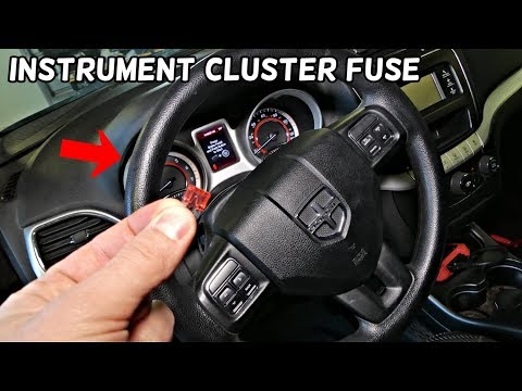 WHERE IS THE FUSE FOR THE INSTRUMENT CLUSTER GAUGES ON DODGE JOURNEY FIAT FREEMONT