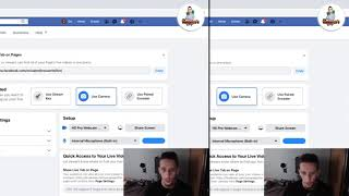 How to Crosspost betẁeen Facebook pages (live streaming and video publishing) step by step tutorial