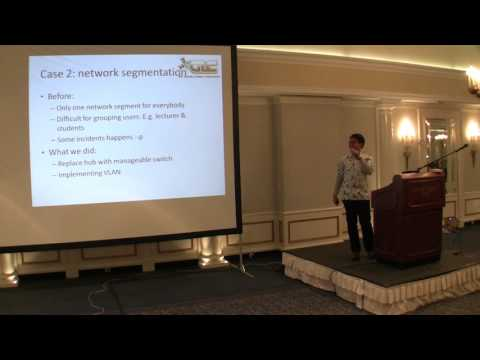 Mikrotik User Meeting Zagreb (Croatia) 2013: Mikrotik implementation on campus network (english)