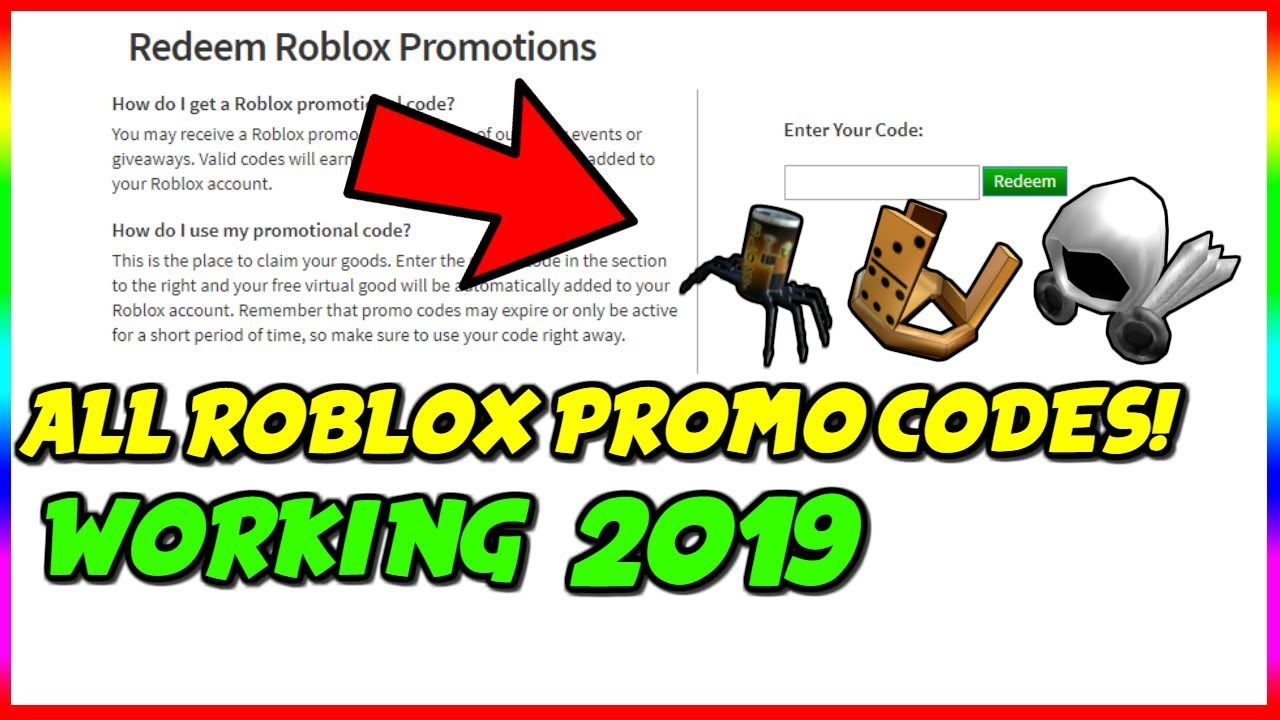 2019 Roblox Redeem Codes All Working Roblox Promo Codes May 2019 Youtube