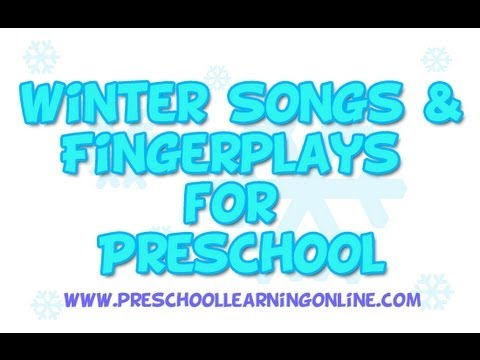 Winter Songs For Preschool Kids Fingerplays Youtube