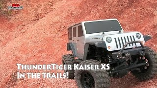 Thunder Tiger 1/14 KAISER XS RC Scale Electric 4WD Jeep Wrangler 4x4 in the trails