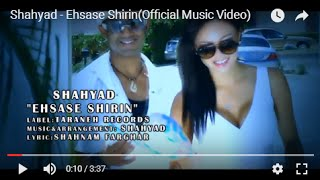 Shahyad - Ehsase Shirin(Official Music Video)