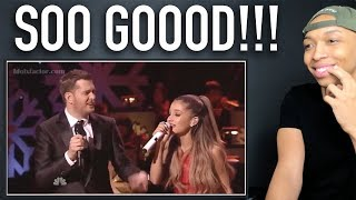 "Michael Buble & Ariana Grande ""Santa Claus Is Coming To Town"" 