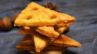Сырные Крекеры проще простого Идеальная закуска Пошаговый рецепт