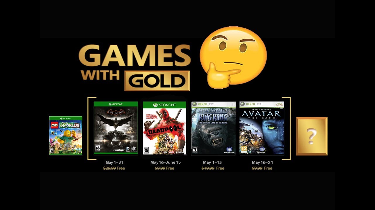 Games For Gold For May 2018 Xbox One 360 Predictions