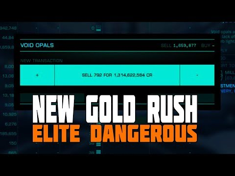 Elite Dangerous - New Feature: Legitimate Gold Rushes Now Paying ~100 Million Credits Per Hour
