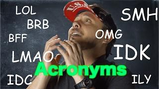 18 Acrónimos muy usados en Inglés.Que significa OMG, LMAO ,BRB, SMH, ROFL y muchos más