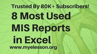 Video 8 MIS Reports in Excel Hindi download MP3, 3GP, MP4, WEBM, AVI, FLV Juli 2018