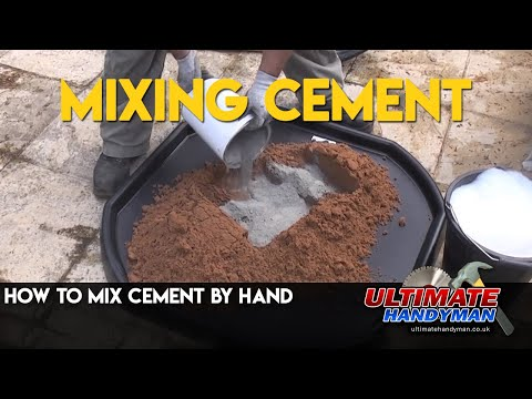 How to mix cement by hand